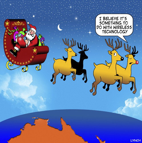 Christmas In Australia Cartoon.Wireless Technology By Toons Media Culture Cartoon