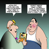 Cartoon: 14 day diet (small) by toons tagged diets,cookies,obesity,delete,overweight,doctor,prescription