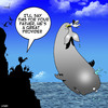 Cartoon: A good provider (small) by toons tagged seagulls,whales,good,dad,fishing,food,family,dinner,provider,chicks