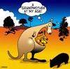 Cartoon: a grandmother (small) by toons tagged grandmother,mother,baby,kangaroo,australia,birthdays,outback,grandfather