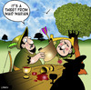 Cartoon: A tweet from Maid Marian (small) by toons tagged robin,hood,sherwood,forest,archery,twitter,tweeting,messaging,history,merry,men