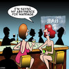 Cartoon: Abstinence (small) by toons tagged abstinence,going,without,vows,single,girls