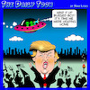 Cartoon: Adieu Trump (small) by toons tagged trump,departure,alien