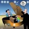 Cartoon: Ah Ha (small) by toons tagged music,piano,concert,maistro