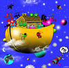 Cartoon: Alien ark (small) by toons tagged aliens ark noahs space the universe population explosion escape bible floods ships god religion