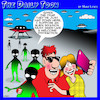 Cartoon: Alien invasion (small) by toons tagged covid,aliens,welcome,distractions