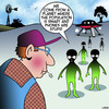 Cartoon: Aliens cartoon (small) by toons tagged aliens,smart,phones,opposites,stupid,flying,saucer,spaceship