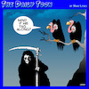 Cartoon: Angel of death (small) by toons tagged vultures,angel,of,death,grim,reaper