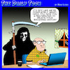 Cartoon: Angel of death (small) by toons tagged browsing,history,apocalypse,sex