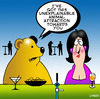 Cartoon: animal magnetism (small) by toons tagged bears,dating,online,relationships,bars,pub,cocktails,drinking,pick,up,line,chatting,animal,magnetism,love
