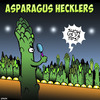 Cartoon: Asparagus comedians (small) by toons tagged asparagus,comedian,comedy,hecklers,insults,tits