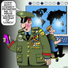 Cartoon: Auto correct (small) by toons tagged auto,correct,nuclear,weapons,first,strike,war,bomb,lunch,prompt,generals,military,medals,might