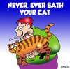 Cartoon: bath your cat (small) by toons tagged cats,felines,bathing,shower,animals