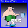 Cartoon: Bathroom scales (small) by toons tagged scales,overweight,obesity,fat,bathroom,health