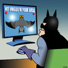 Cartoon: Batman (small) by toons tagged batman,super,hero,bats,hot,singles