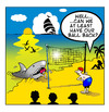 Cartoon: beach volley ball (small) by toons tagged beach,volleyball,games,sharks,fish,ball