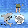 Cartoon: Beat the frenzy (small) by toons tagged sharks,feeding,frenzy,mobile,phones,shark,attack