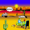 Cartoon: Bummer (small) by toons tagged restaurant dining desert island food drinks marooned reserved signs disappointment cafe snack waiters