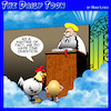 Cartoon: Chicken and egg cartoon (small) by toons tagged chicken,and,egg,heaven,who,came,first,god,animals,afterlife