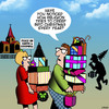 Cartoon: Christmas (small) by toons tagged christmas,xmas,consumerism,presents,bying,spree