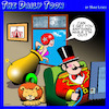 Cartoon: Circus performers (small) by toons tagged circus,shot,from,cannon,lion,tamer