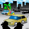 Cartoon: city island (small) by toons tagged desert,island,urban,life,cities,lonely,marooned,stranded,unloved,lost,traffic,vehicles