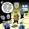 Cartoon: clueless (small) by toons tagged police,detectives,fingerprints,crime,clues