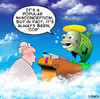 Cartoon: Cod (small) by toons tagged god heaven religion hell fish cod afterlife death angels clouds bible halo