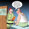 Cartoon: Conscience (small) by toons tagged politicians,doctors,conscience,cancer,disease,liar