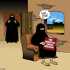 Cartoon: Cross dress burka (small) by toons tagged burqa,cross,dressing,burka,muslim,female,clothing