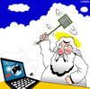 Cartoon: delete (small) by toons tagged god,heaven,insects,laptop,twitter,facebook,flys