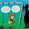 Cartoon: Dicking around (small) by toons tagged playground,swings,dicking,around,wasting,time,father,and,son