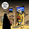 Cartoon: Dinner (small) by toons tagged suicide,bomber,terrorist,burqa