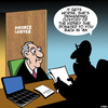 Cartoon: Divorce lawyer (small) by toons tagged organ,donors,divorce,lawyers,kidney,donor,settlement
