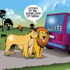 Cartoon: Family car stickers (small) by toons tagged wildlife,park,lions,family,car,stickers,lioness,menu