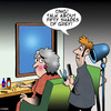 Cartoon: Fifty shades of grey (small) by toons tagged hairdresser,fifty,shades,of,grey,older,women,middle,age