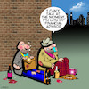 Cartoon: Financial advisor (small) by toons tagged financial,advice,tramps,begging,advisor
