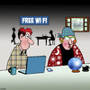 Cartoon: Free Wi Fi (small) by toons tagged fortune,teller,wi,fi,internet,cafe