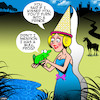 Cartoon: Frog Prince (small) by toons tagged fairy,tales,frog,prince,historical,princess,and,the,bullfrog,liar