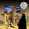 Cartoon: Goat for dinner (small) by toons tagged suicide,bomber,muslim,extremest,goats,burqa,wife,burka
