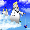 Cartoon: Gods yo yo (small) by toons tagged yo,god,at,play,the,universe,planet,earth,angels,relaxation