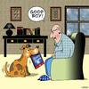 Cartoon: good boy (small) by toons tagged new,media,ipads,newspapers,tablets,vs,online,dogs