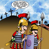 Cartoon: Good Friday (small) by toons tagged easter,good,friday,crucifixion,jesus,on,the,cross,roman,soldiers