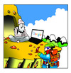 Cartoon: google (small) by toons tagged google,mountains,mountain,climber,guru
