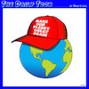 Cartoon: Great again (small) by toons tagged ecology,trump,hat,climate,change