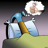 Cartoon: Hammer dreams (small) by toons tagged hammer,tools,dreams,sleep,sore,thumb,hitting,with