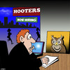 Cartoon: Hooters (small) by toons tagged hooters,big,breasts,buxom,waitress,owls,birds,cv,animals,tits,job,interviews