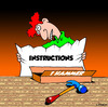 Cartoon: instructions (small) by toons tagged hammer,tools,garden,instructions,carpenter,and,nails,building,builder,handiman,gifts