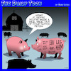 Cartoon: Kevin Bacon (small) by toons tagged pigs,bacon,tattoos,farmyard,hogs,pork,animals