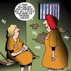 Cartoon: Killing with kindness (small) by toons tagged female,prison,killing,with,kindness,kill,my,husband,jail,women